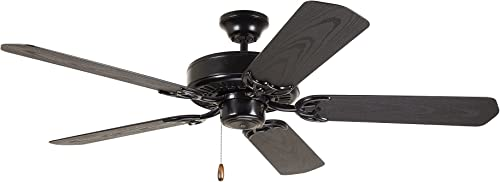 """Emerson Fans CF652BQ 52"""" Summer Night Energy Star Outdoor Barbeque Black Ceiling Fan Light Kit NOT Included"""