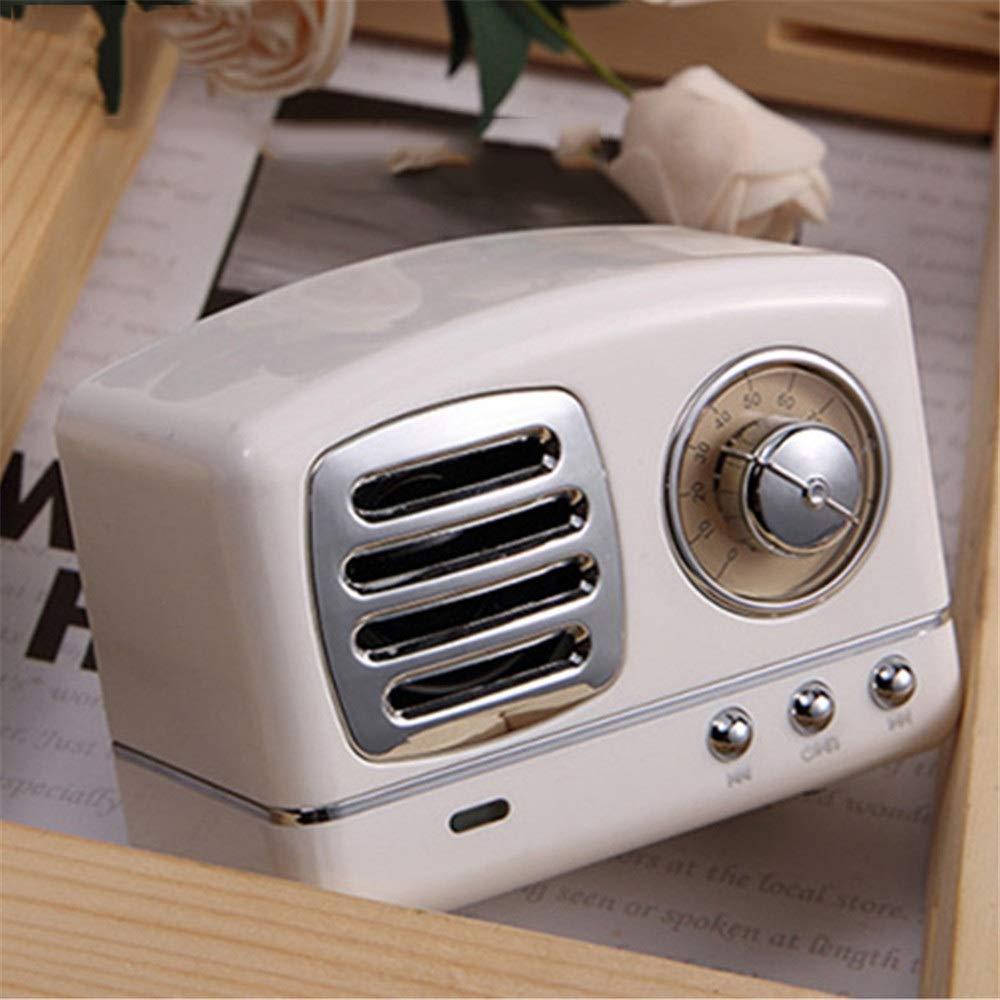 Altavoz del Bluetooth Retro Mini portátil Vintage Radio ...