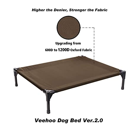 Veehoo Cama elevada para Perro, Cuna portátil elevada, Alfombra Impermeable y Transpirable, pies Antideslizantes, Tela Oxford 1200D, Uso Interior o Exterior ...