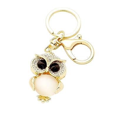 Amazon.com  Rosemarie Collections Women s Owl Keychain Handbag Charm ... 46adc945c