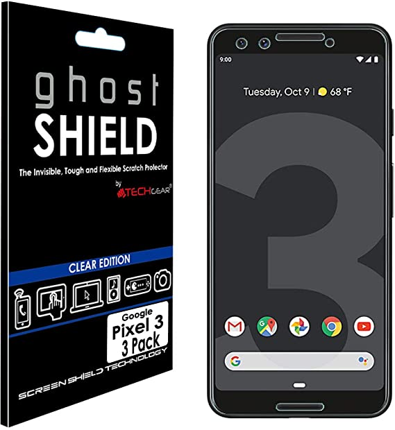 TECHGEAR [3 Piezas Protector de Pantalla Compatible con Pixel 3 ...