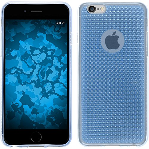 PhoneNatic Case für Apple iPhone 5 / 5s / SE Hülle Silikon hellblau Iced Cover iPhone 5 / 5s / SE Tasche + 2 Schutzfolien