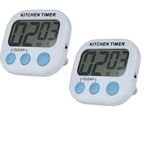 Temporizador de cocina magnético Discoball, temporizador digital con reloj con cuenta regresiva y