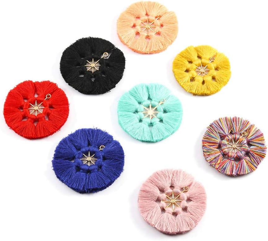 Exceart 5PCS Mini Tassels DIY Tassel Bookmark Tassels Bohemian Charm for Craft Making Floss Souvenir Keychain Craft DIY Projects