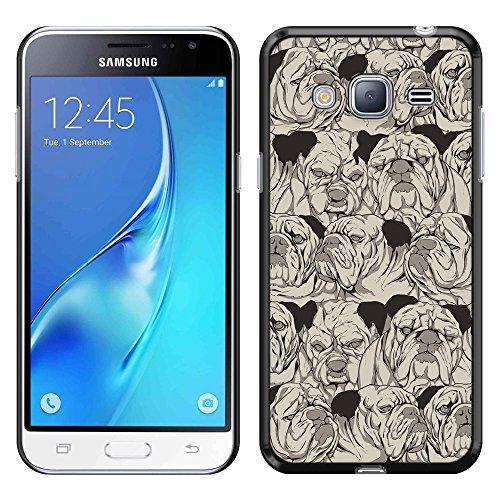 Samsung Galaxy J3 J310 J320 Amp Prime Express Prime Sol J321 J3 V Sky S320 Case, Fincibo (TM) Back Cover Slim Fit Hard Plastic Protector, Bulldog (Armor Express Bulldog compare prices)