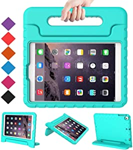 BMOUO Kids Case for iPad 2 3 4 - Shockproof Light Weight Convertible Handle Stand Case Cover for Apple iPad 9.7 Inch (iPad 2nd 3rd 4th Generation) - Turquoise