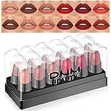 12 Colors Moisture Matte Lipstick Set Velvety Long Lasting Nude Waterproof Lipsticks Allure Series Kit(Allure Color)