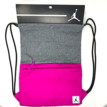 faa69f72924 Amazon.com | Jordan Jumpman Pivot Drawstring Bag Gymsack Backpack  Streetwear Gym Fuchsia Blast | Drawstring Bags
