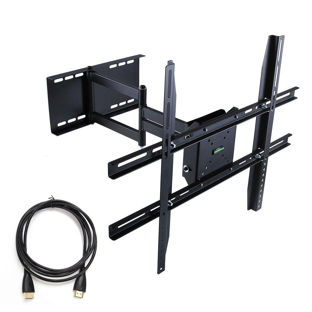 14 65 inch full motion articulating tilt swivel tv wall mount bracket adjustable. Black Bedroom Furniture Sets. Home Design Ideas