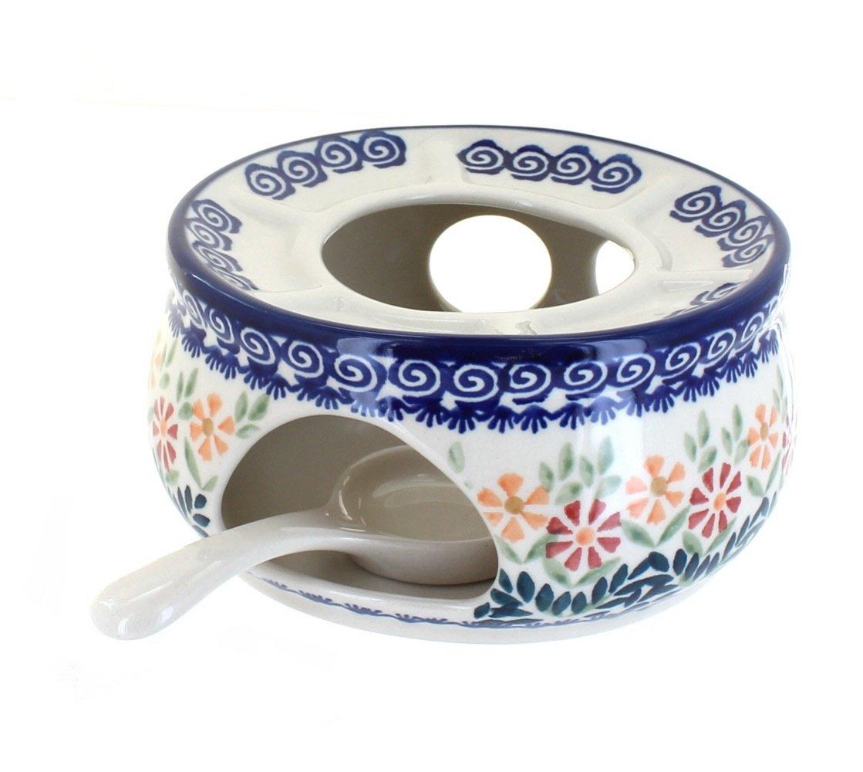 Blue Rose Polish Pottery Garden Bouquet Teapot Warmer by Blue Rose Pottery