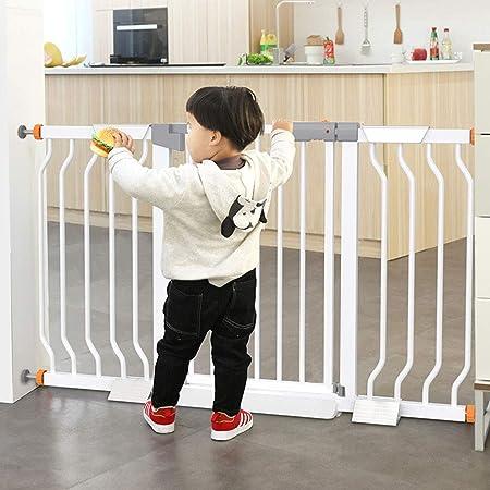 Puerta de metal para bebés,barandilla de escalera para bebés,valla de puerta de seguridad para niños,perforación libre,barandas protectoras para el hogar,puerta de aislamiento para mascotas,68/74cm: Amazon.es: Hogar