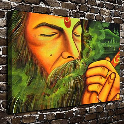 COLORSFORU Wall Art Painting Marijuana Prints On Canvas The Picture Landscape Pictures Oil