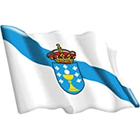 Artimagen Pegatina Bandera Ondeante Galicia 65x50 mm. Resina