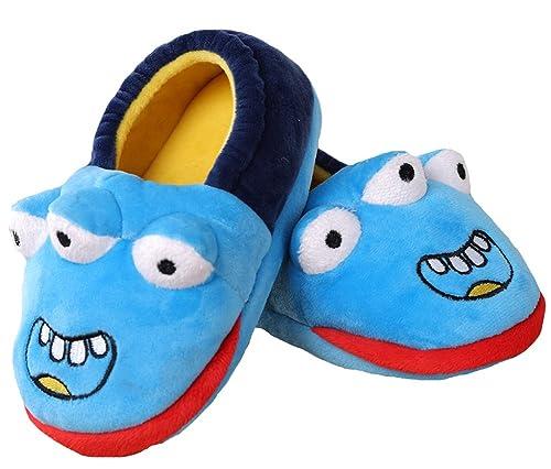 bfa8863f9de Boy s Three Eye Monster Winter House Shoes Cartoon Indoor Bootie Slippers  (17(8.5 M