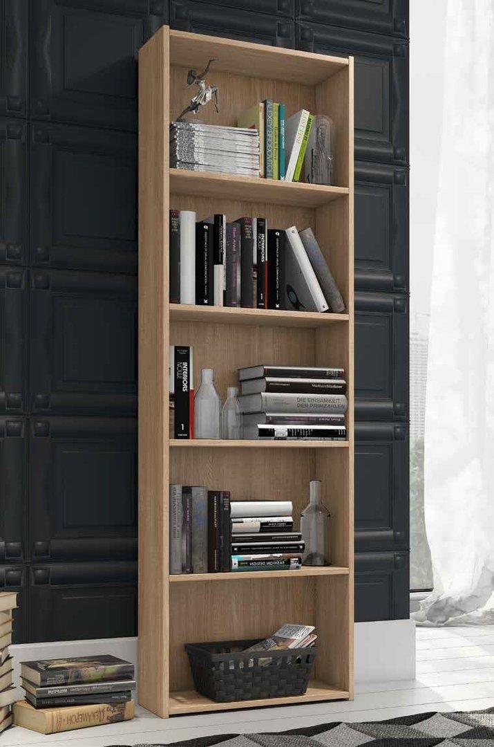 Valentini Bücherregal für Kinderzimmer Modell Enjoy Farbe Eiche – cm H175 L55 P21