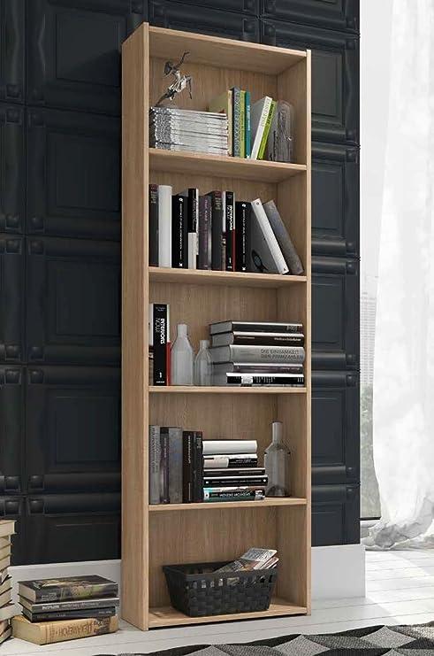 Libreria per cameretta modello Enjoy colore Quercia - cm H175 L55 ...