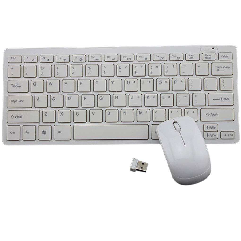 Coddington Teclado USB 2.4G Mini rat/ón inal/ámbrico ergon/ómico Conjunto de Escritorio de Oficina Entretenimiento Suministros para port/átiles