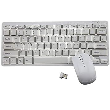 Sunlera - Mini Teclado USB 2.4G ergonómico sin Cables, Accesorios ...