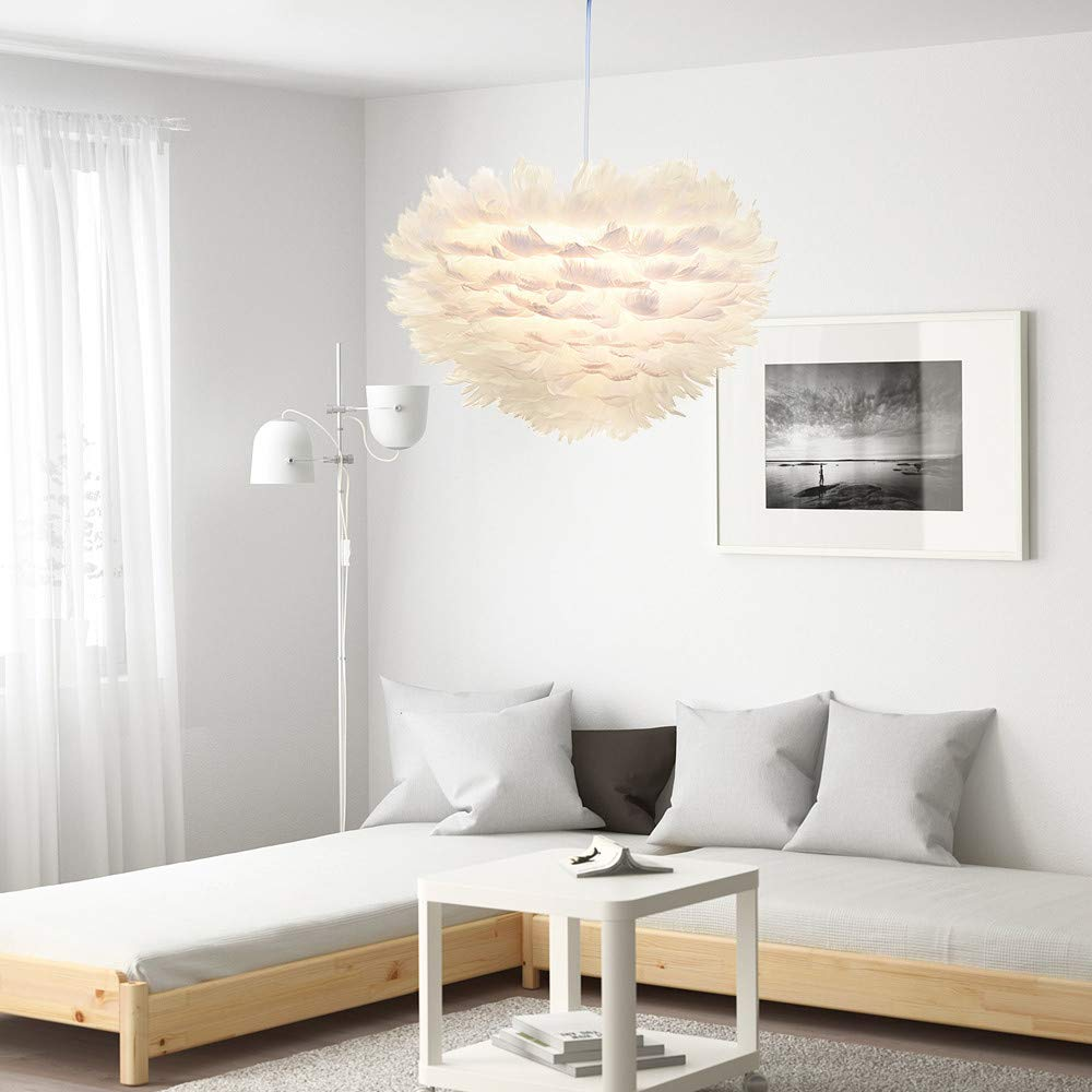 Sonmer Modern Pendant Light Feather Shade Chandelier Ceiling Light by Sonmer (Image #1)