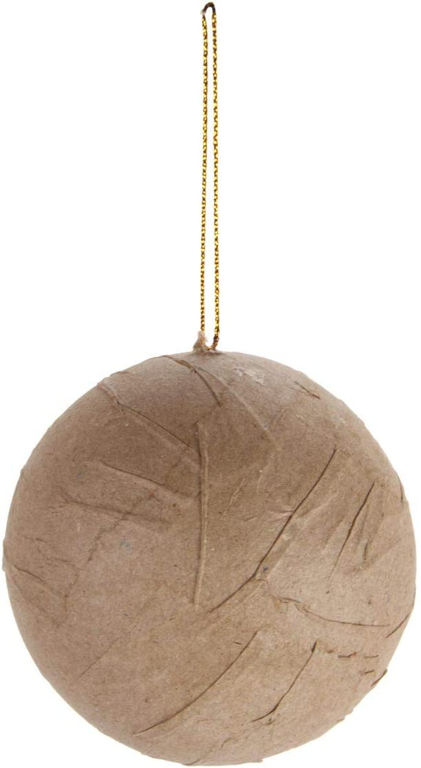 3-Pack 2847-16 Darice Bulk Buy DIY Paper Mache Ornament Wrinkled Ball 80mm