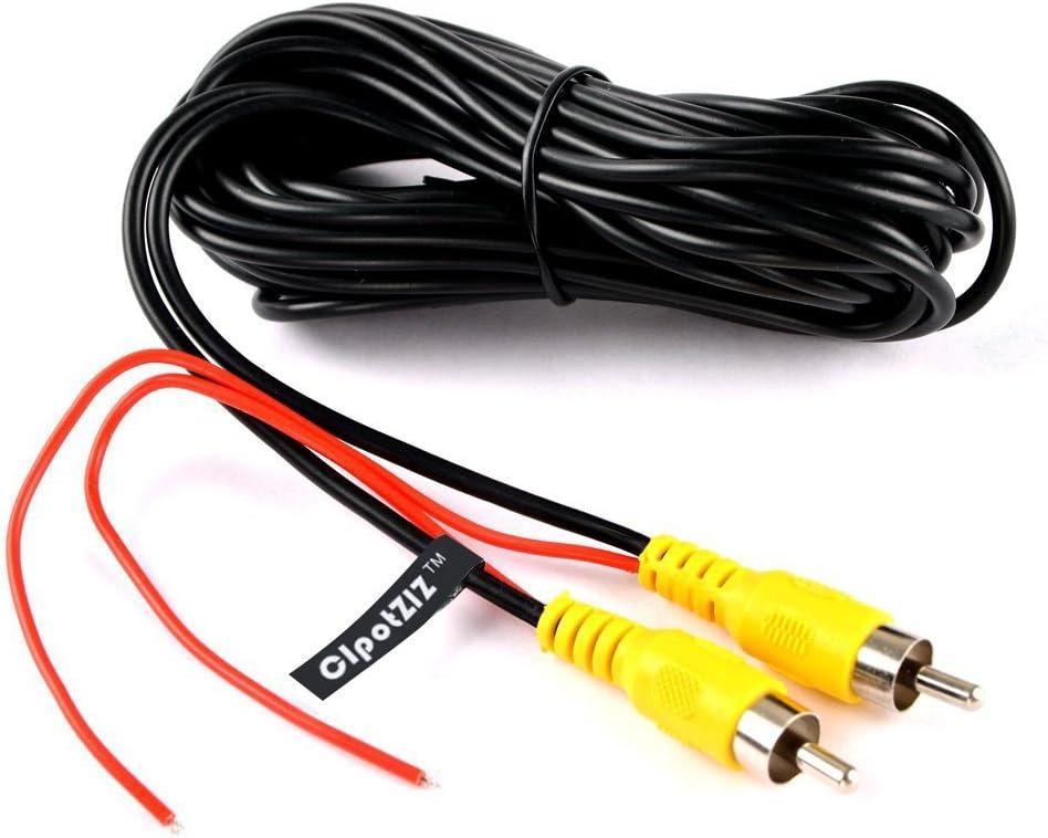 Cable de detecci/ón de v/ídeo para c/ámara de Seguridad Yeung Qee Cable de v/ídeo RCA para c/ámara de visi/ón Trasera y de Aparcamiento c/ámara de Marcha atr/ás y Sistema de Monitor 20 m
