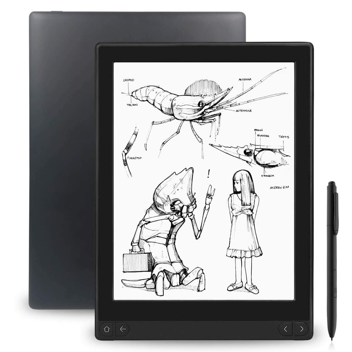 Likebook Mimas E-Reader, 10.3'', Dual Touch, Hand Writing, Built-in Cold/Warm Light, Built-in Audible, Android 6.0, Octa Core Processor, 2GB+16GB