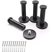 Wjuan Handdoekhaak, zwart, rond, roestvrij staal, geschikt voor installatie in keuken, badkamer, werkkamer en…
