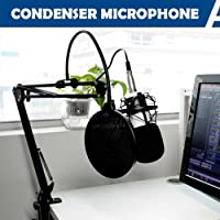 Yescom Pro Studio Condenser Microphone Recording Suspension Boom Scissor Arm Stand Kit