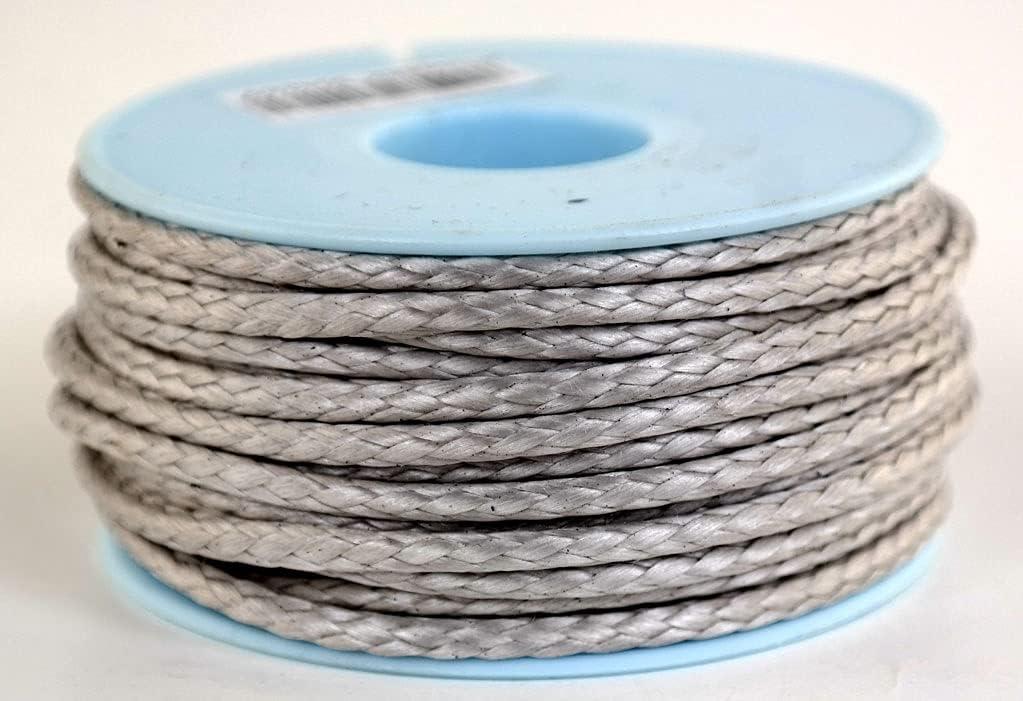 Dyneema - Bobina de cuerda trenzada (3 mm, 15 m), color gris