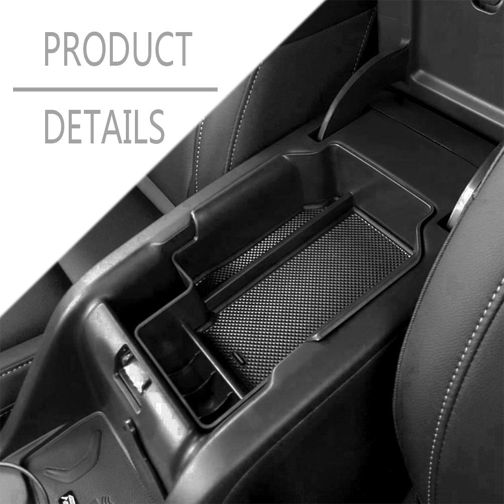 YIFAT Car Center Console Organizer Armrest Storage Box Interior Coin Tray for Chevy Colorado//GMC Canyon 2015 2016 2017 2018