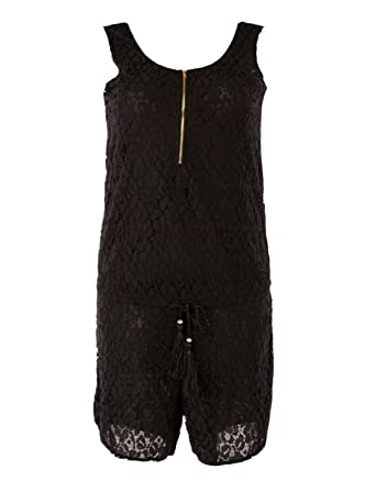 2f9254204f4f00 Few24 Modischer Spitzen Jumpsuit Overall Hosenanzug kurz: Amazon.de ...
