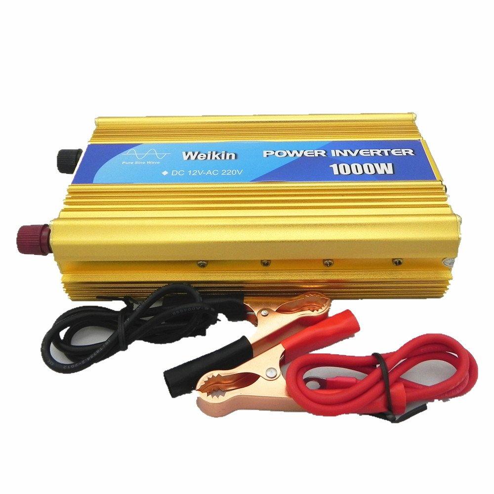 WEIKIN pure sine wave power inverter 1000W DC 12V to AC 220V converter by weikin
