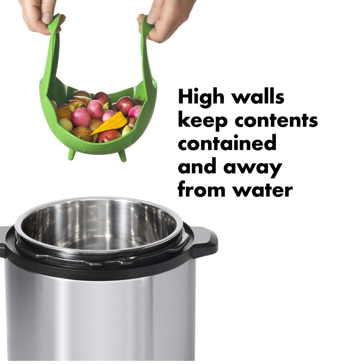 OXO Good Grips Silicone Steamer, Green by OXO (Image #4)