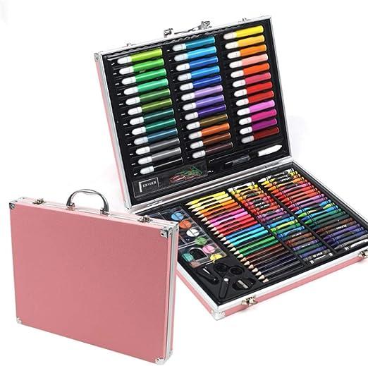 Kanqingqing Caja Colores Niños 150 Sets de Arte con Pinturas de ...