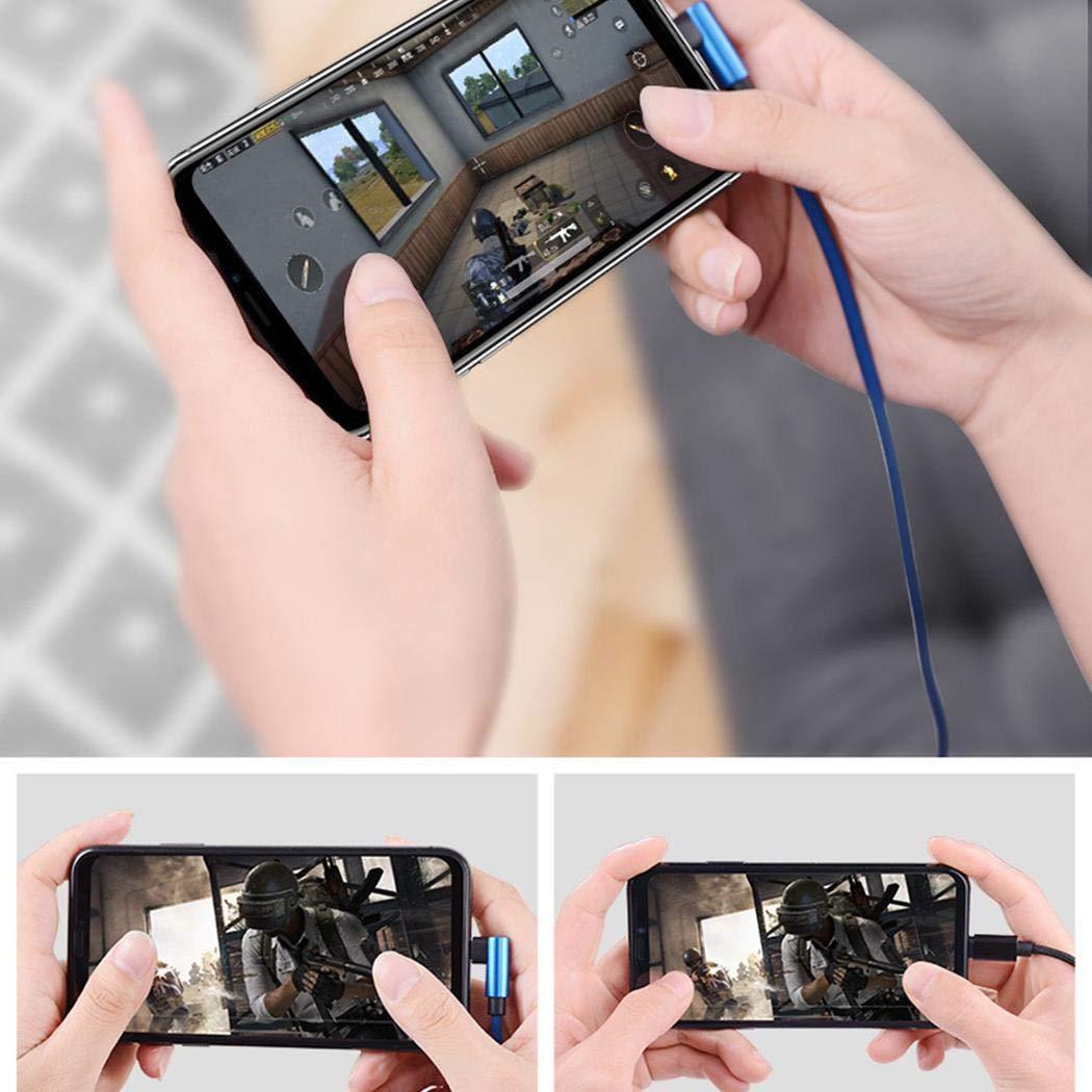 yagot Double Elbow Durable USB-Gewebe-Daten gesponnene Linie Handyspiele Datenkabel für Android