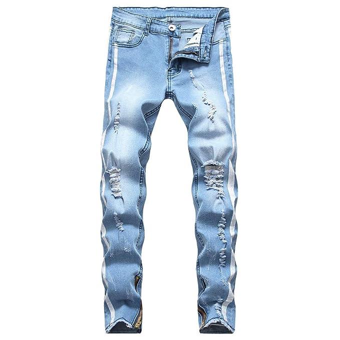 VPASS Pantalones Vaqueros para Hombre, Pantalones Casuales ...