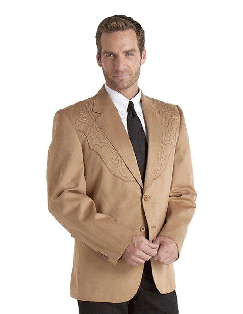 Circle S Men's Galveston Sport Coat Reg, Tall Tan 42 R