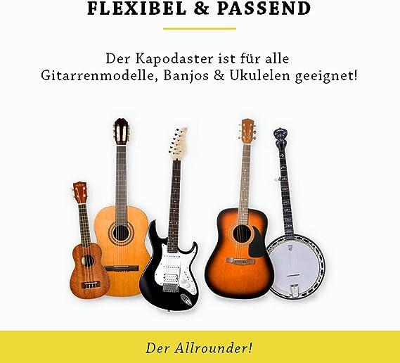 BELFORT® QuickPitch Original - Cejilla para guitarra + 3 púas + ...