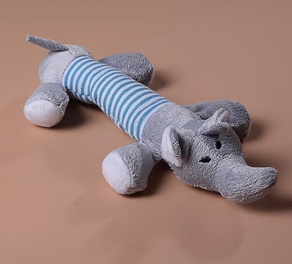 Juguete Mordedor, Juguetes Perros Mordedor con Sonidos para Perros Gatos Mascotas Peluche Color Gris: Amazon.es: Juguetes y juegos