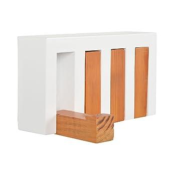 tsideen guardarropa perchero de madera estante estantera para pared con ganchos estilo
