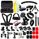 Iextreme 50 in 1 Action Camera Accessories Kit GoPro Hero 2018 GoPro Hero6 5 4 3 Carrying Case/Chest Strap/Octopus Tripod