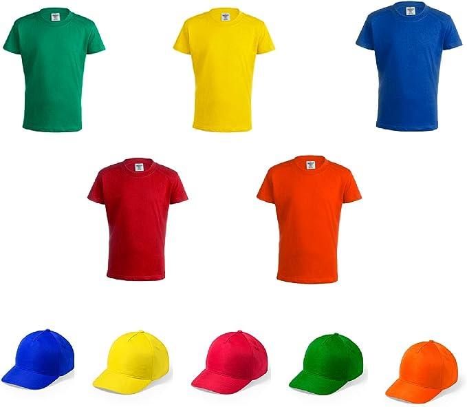 Camiseta + Gorra Infantil de Colores. Lote de 20 Unidades. Regalo ...