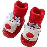 SINOTECHQIN Baby Kids Cartoon Natale antiscivolo calzini da pavimento, scarpette per bimbi a cartoni animati per 0-2 anni neonati