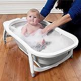 Karibu Baignoire pliable pour bébé Blanc/gris