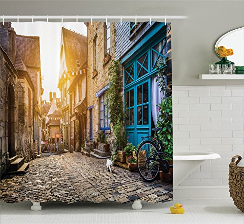 Ambesonne Wanderlust Decor Collection, Old Town In Europe At