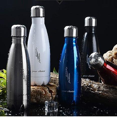 ZXZXZX Botella Agua Acero Inoxidable, Botella De Agua 350ML ...