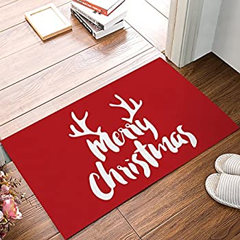christmas antlers home doormat non slip indooroutdoorfront doorbathroom entrance mats