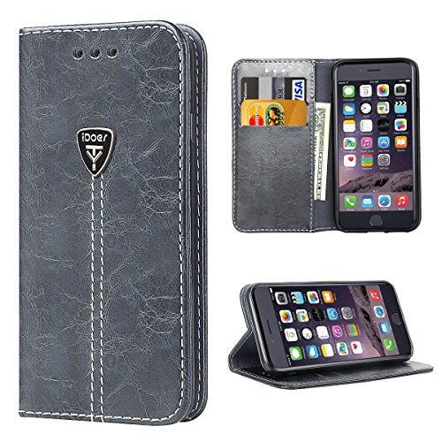 Premium Leather Kickstand Magnetic Closure iOS