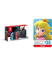 Nintendo Switch – Neon Red and Neon Blue Joy-Con + $35 Nintendo eShop Gift Card [Digital Code]