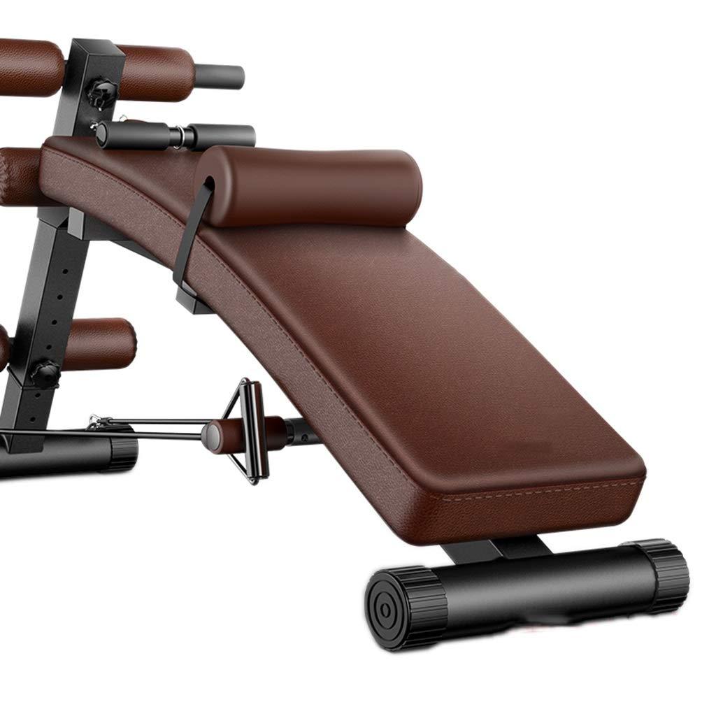 腹筋器具 シットアップ腹部のマシンの腹部の多機能仰臥位ボードダンベルベンチホームフィットネス機器 (Color : Brown, Size : 176*58*77cm) 176*58*77cm Brown B07KG9QTDM
